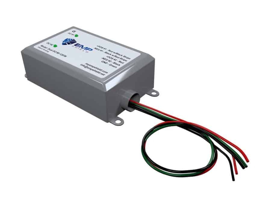 Dual DC 90-120 Wired EMP Shield Solar and Wind